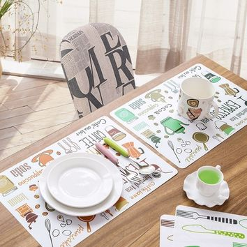 1 Pcs Practical PVC Dining Table Place Mat Tableware Pad Coaster Coffee Tea Place Mat Kitchen Tool