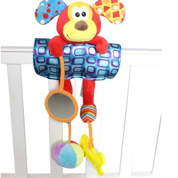 Multifunctional baby toys  cute dog  animal  Rattles toys doll  Infant car Pendant stroller & crib accessories stuffed toy  TO64