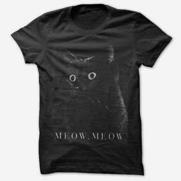 Hello Merch — Meow Meow Black T-Shirt