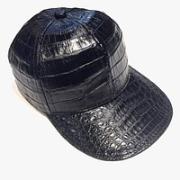 Black All Over Alligator body Strap-back Hat