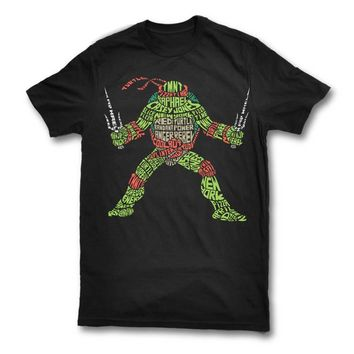 Ninja Turtle Typography T-Shirt