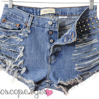 Vintage Gap Denim SPIKE STUDDED High Waist by kaleidoscopeeyesvtg