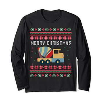 Cement Truck Ugly Christmas Long Sleeve T-shirt