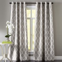 Moorish Tile Curtain - Gray