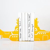 Bookends - Yellow Submarine - FREE DELIVERY laser cut for precision these metal bookends will hold your favorite books