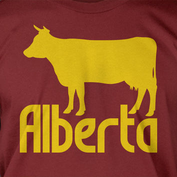 Alberta Canada Tshirt province - Screen Printed T-Shirt Tee Shirt T Shirt Mens Youth Kids Funny Geek
