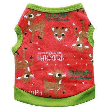 Rudolph Winter Dog Sweater