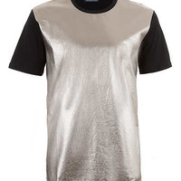 METALLIC LEATHER LOOK FRONT T-SHIRT - New This Week - New In