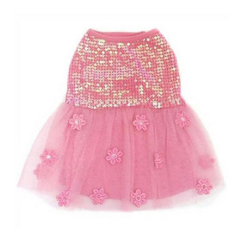 Hotter Than You Pink Sequin Dress