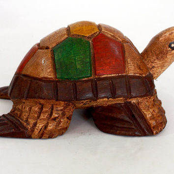 Turtle Figurine - Hand rosewood carved from old Sri Lanka technology