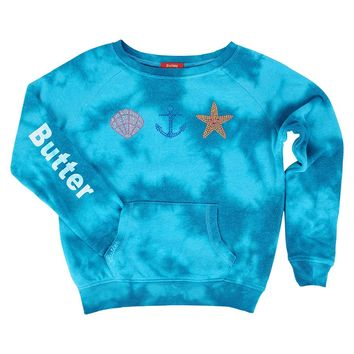 Butter Kids Storm Wash Shell Anchor Starfish Raglan