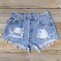 Vintage Distressed Jean Shorts
