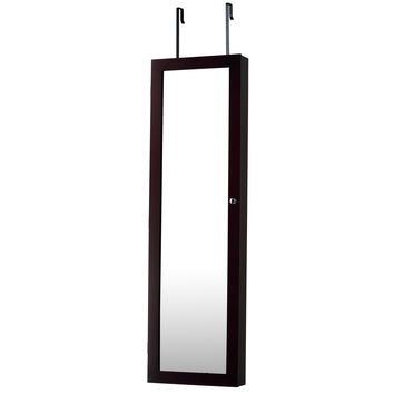 InnerSpace Luxury Products Over The Door or Wall Hang Jewelry Armoire Mirror