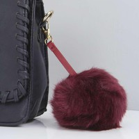 Ava Faux Fur Pom Keyring And Bag Charm