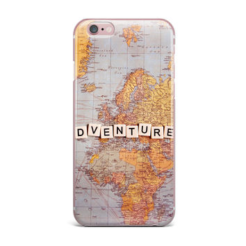 "Sylvia Cook ""Adventure Map"" World iPhone Case"