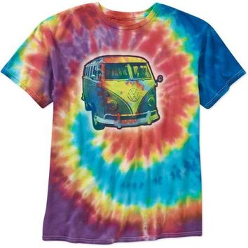 Volkswagen Tie Dye Big Men's Short Sleeve Tee - Walmart.com