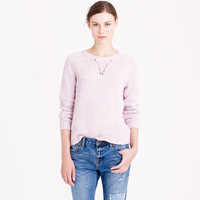 LADDER-STITCH SWEATSHIRT SWEATER
