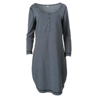 Three Dots Womens Striped 3/4 Sleeves Casual Dress