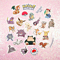 VINTAGE Pokemon Tattoo's - Cutout Color Pack