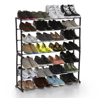 Maison Grand Luxe 35-Pair Free Standing Shoe Rack in Black - Beyond the Rack