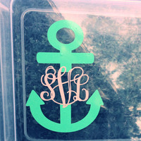 "Anchor Monogram 5"" Perfect for Car or Laptop"