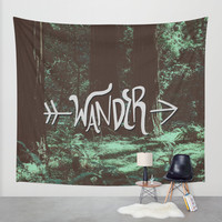 Wander Wall Tapestry by Leah Flores