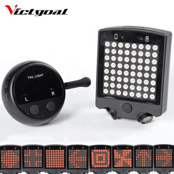 VICTGOAL Bicycle LED Light 2 Lasers Night Cycling Rear Light Mountain Bike Saddle Safety MTB Road Rear Lights Backlight M1002