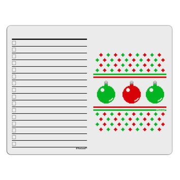 Ugly Christmas Sweater Ornaments To Do Shopping List Dry Erase Board