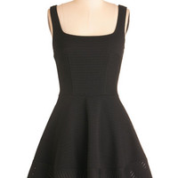 ModCloth LBD Short Length Sleeveless A-line Met with Splendor Dress in Black