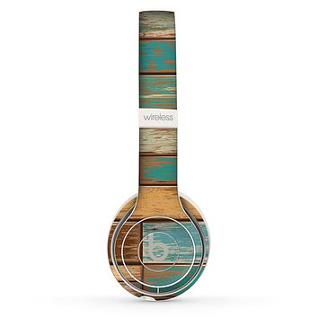 The Colored Vintage Solid Wood Planks Skin Set for the Beats by Dre Solo 2 Wireless Headphones