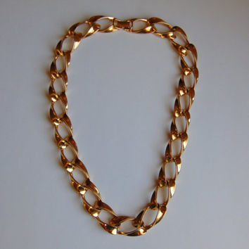 Napier Gold Tone 20 inch link necklace