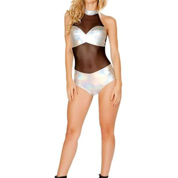 Roma Rave 3437 - Sheer Romper with Tube Panel