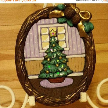 Autumn Sales Event Musical Xmas Tree Plaque with Lights