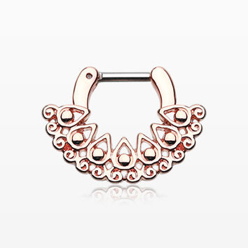 Rose Gold Arioso Filigree Septum Clicker