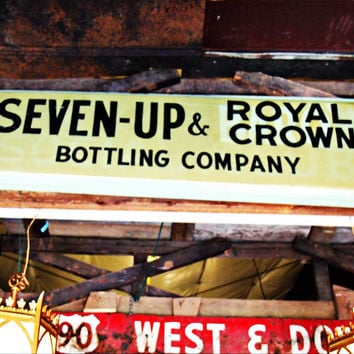 Seven-Up & Royal Crown Bottling Company Sign