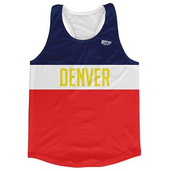 Denver City Finish Line Running Tank Top Racerback Track and Cross Country Singlet Jersey