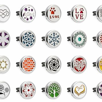 Dragonfly Tortoise Paw 30mm Magnet Car Diffuser Locket Vent Clip Essential Oil Aromatherapy Diffuser Perfume Locket 10pcs Pads