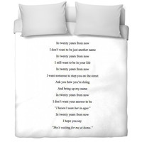 Quote Bed Spread