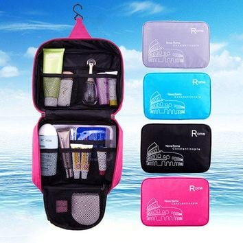 Woman Nylon Waterproof Travel Storage Bag Bathroom Bag Home Toiletry Kit Cosmetic Bag