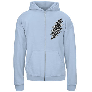 Grateful Dead - Black & White Calaveras Light Blue Youth Zip Hoodie