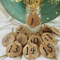 Rustic Table Numbers, Wedding Table Numbers, Unique Table Numbers