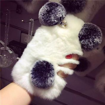 Panda or Rabbit Fur Phone Case