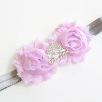 Baby headband pink shabby chic princess headband,girls headband, toddler photo prop, baby headband, carriage ,UK seller