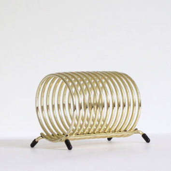 Vintage spiral mail holder vintage from simple treasury for Gold letter rack
