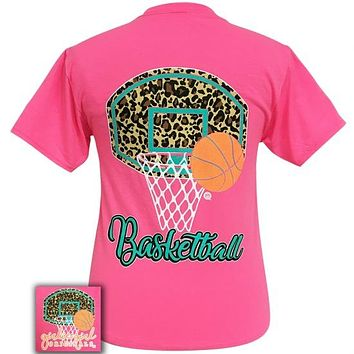 Girlie Girl Originals Preppy Leopard Basketball T-Shirt
