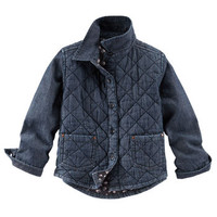 Quilted Denim Shirt-Jacket
