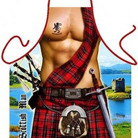 Scottish Man Sexy Kitchen Cooking Apron