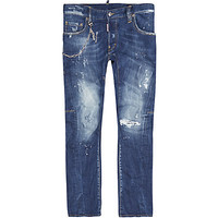 Dsquared2 Paint Splatter Tidy Biker Jeans