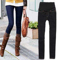 Women's Maternity Adjustable Waistband Skinny Pants Jeans Long Trousers Jeans clothes 19812 = 1945735300