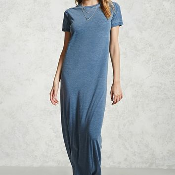 Burnout T-Shirt Maxi Dress